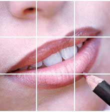 contorno labbra