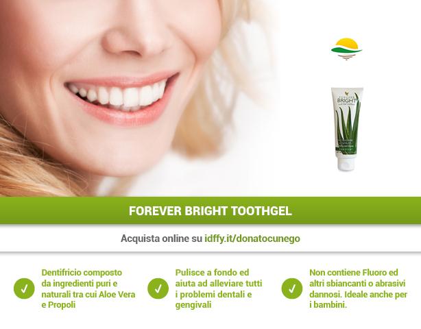 Benefici del dentifricio Forever Bright Toothgel