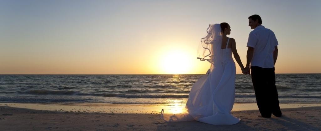 Sposi al tramonto