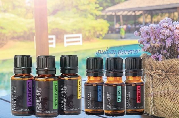 Piccola guida all'utilizzo dei forever essential oils.