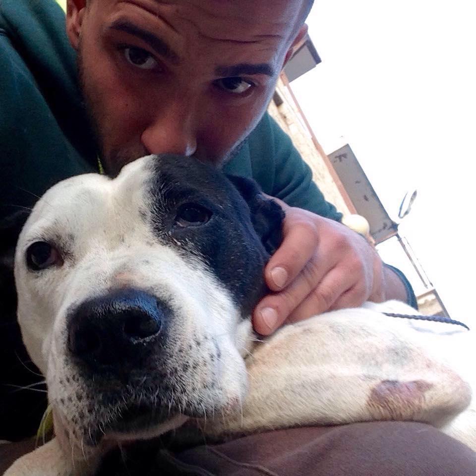 Andrea Di Marco e il cane
