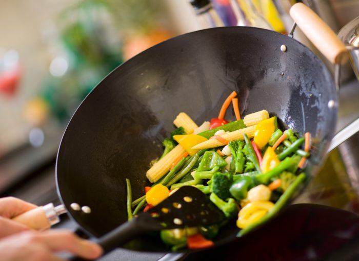 Verdure leggermente scottate nella Wok, belle da vedere, buone da mangiare!