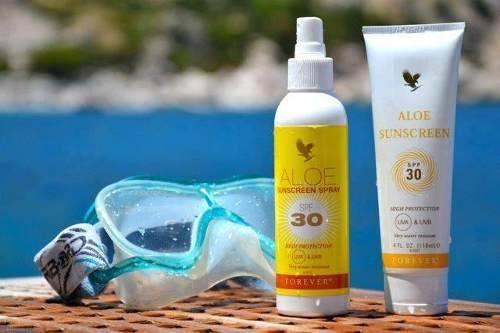 Aloe Sunscreen spay e crema