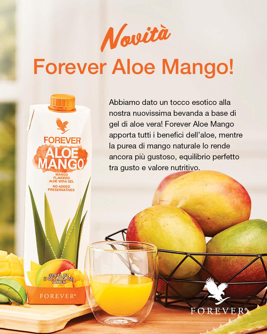 Aloe per l'estate - Nuovo Forever Aloe Mango - Succoaloevera