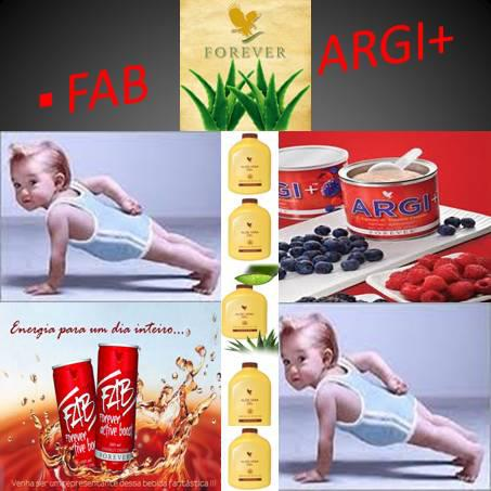 Combinazione Argi+ e Forever Fab(integratore alimentare con bevanda)