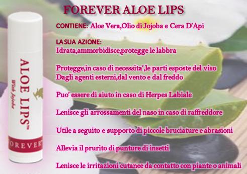 FOREVER ALOE LIPS ( Stick per Labbra,la più piccola farmacia,la più efficace al mondo!)