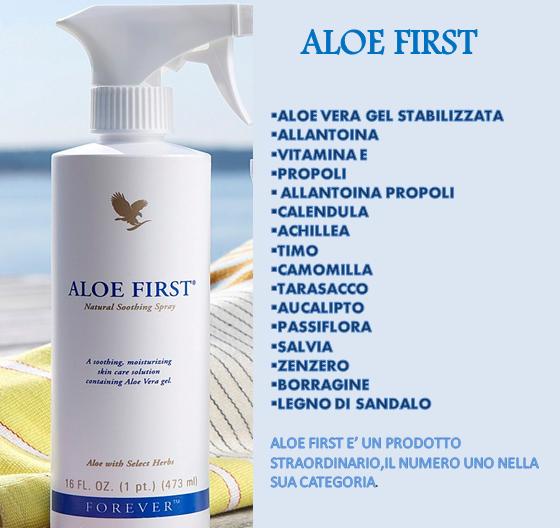 Aloe First(Prodotto per la bellezza e protezione della pelle)